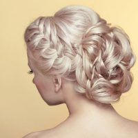 Wedding Hair Up on Blonde Hair