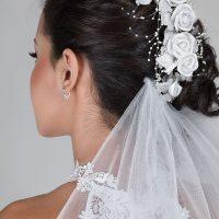 Wedding Hair Up on Dark Hair
